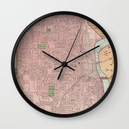 Vintage Map of Omaha Nebraska (1903) Wall Clock
