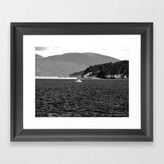 Lone Sailor Framed Art Print
