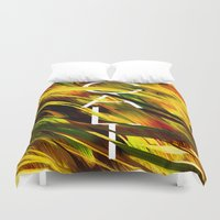 camo Duvet Covers featuring CAMO CALI by Chrisb Marquez