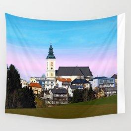 Village skyline with vivid sky | landscape photography Wall Tapestry