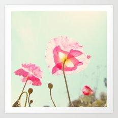 Sunshine & Poppy Art Print