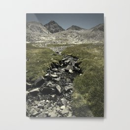 Rocky Creek and Moutains Metal Print