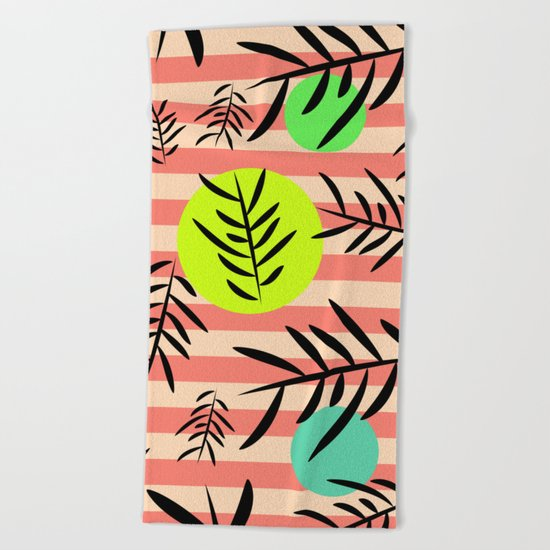 Happy leaf fall Beach Towel