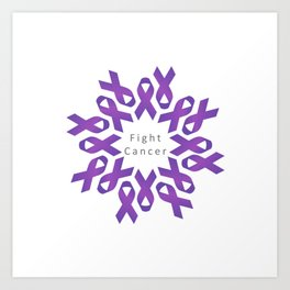 World Cancer Day to raise awareness and prevent cancer Art Print
