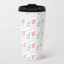 Hand Drawn Hexagon Pattern Travel Mug