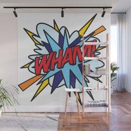 WHAM Comic Book Flash Pop Art Trendy Cool Typography Wall Mural