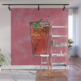 THERE'S ALWAYS TIME FOR ICE TEA! - PINK Wall Mural