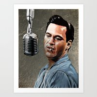 johnny cash Art Prints featuring Johnny Cash by Jake Berry