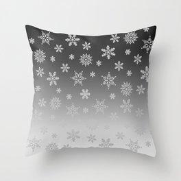 Snow Flurries Throw Pillow
