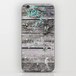 Planks and leaves iPhone Skin