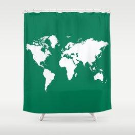 Emerald Elegant World Shower Curtain