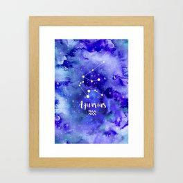 Aquarius Constellation Framed Art Print