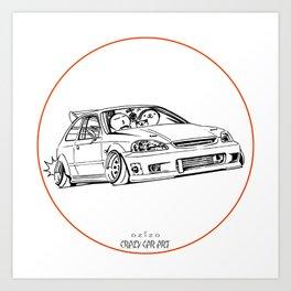 Crazy Car Art 0217 Art Print