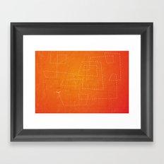 The Dance of the Midge on a Hot Summer Night Framed Art Print
