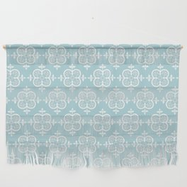 Decorative Pattern in White and Blue Wall Hanging