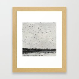 Greenlake in Grey Framed Art Print