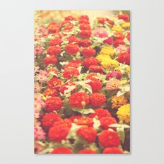 I'd like to lie in a bed of flowers Canvas Print