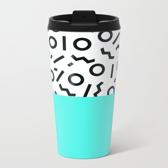 Memphis pattern 43 Metal Travel Mug