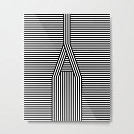 A Line Metal Print