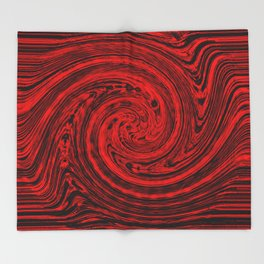Hurricane wind in red and black Throw Blanket