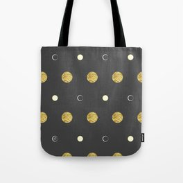 Golden Moon #abstract #art #home #decor #mond #kirovair #gold #artdeco Tote Bag