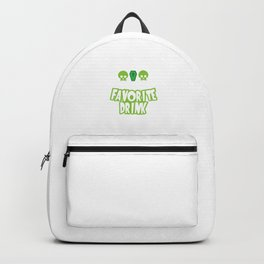 Grim And Tonic Is My Favorite Drink Halloween Backpack