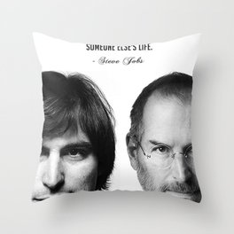 Steve Jobs Business Quote Time is limited painting Vintage Poster Throw Pillow