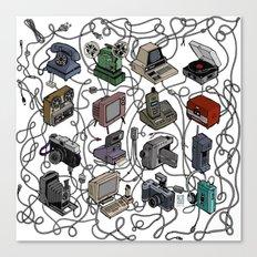 Retro Electronics Canvas Print