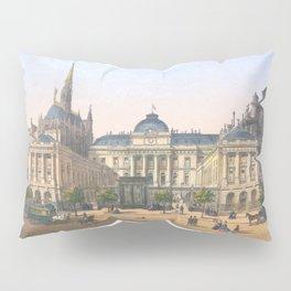 Paris art print Paris Decor office decoration vintage decor PALAIS DE JUSTICE of Paris Pillow Sham
