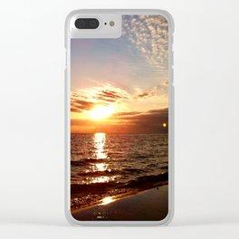 Florida Emerald Coast Sunset III Clear iPhone Case