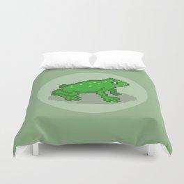 Pixel Frog Duvet Cover