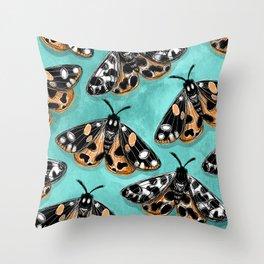 Tiger Moths Throw Pillow