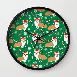 Corgi christmas welsh holiday gift for dog breed dog person corgi lovers christmas gifts Wall Clock