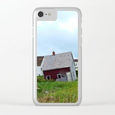Lighthouse and shacks in North-Rustico PEI Clear iPhone Case