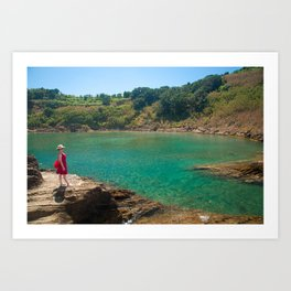 Contemplating the lagoon Art Print