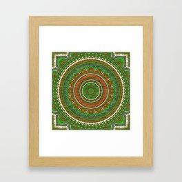 Hippie mandala 80 Framed Art Print