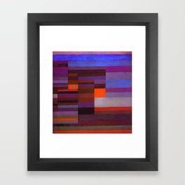 Paul Klee Fire In The Evening Colorful Abstract Art Framed Art Print
