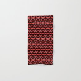 Dividers 02 in Red over Black Hand & Bath Towel