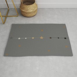 Cute Frame with golden stars  Rug