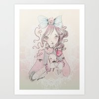 lolita Art Prints featuring Lolita by GABI FVENTES