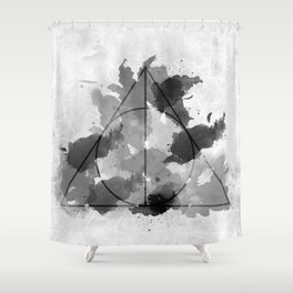 The Gifts Black and White Version Shower Curtain