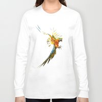 low poly Long Sleeve T-shirts featuring Low poly Parrot by exya
