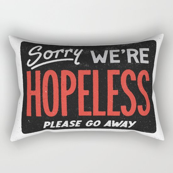 Hopeless Rectangular Pillow