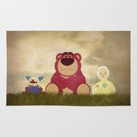 pixar Area & Throw Rugs featuring The Tragedy of Lotso by Robert Scheribel