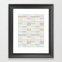 Rainbow Specs Framed Art Print