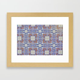 Azulejo Framed Art Print