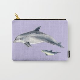 Bottlenose dolphin purple background Carry-All Pouch