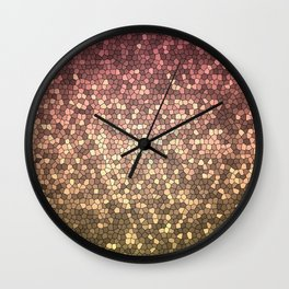 Abstract Rose Gold Design Pattern Texture Wall Clock