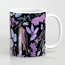 Purple flowers and jewels. Coffee Mug