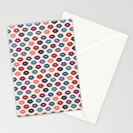 Retro Lips Pattern Stationery Cards